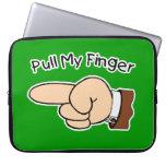 Tirón verde mi bolso/manga de la electrónica del d mangas portátiles