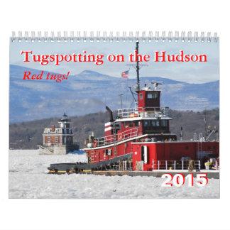 ¡Tirones del rojo! Tugspotting en el Hudson Calendarios