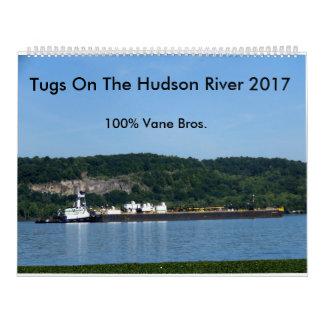 Tirones en el río Hudson 2017---Hermanos 100% de Calendario De Pared