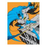 Tiros Batarang de Batman en tejado Postales