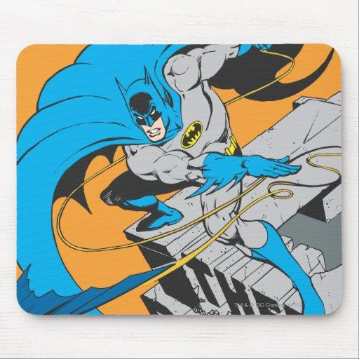 Tiros Batarang de Batman en tejado Tapetes De Raton