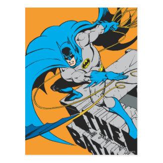 Tiros Batarang de Batman en tejado Tarjeta Postal