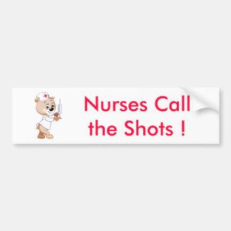 Tiros de Callthe de las enfermeras - oso de la enf Pegatina Para Auto