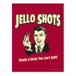 Tiros de Jello: Bebida que usted no puede derramar Tarjeta Postal