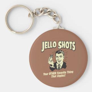 Tiros de Jello: La otra cosa preferida Llavero Redondo Tipo Pin