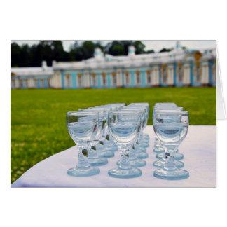 Tiros de la vodka en el palacio de Catherine en Tarjeta De Felicitación