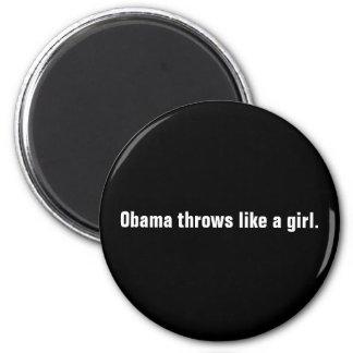 Tiros de Obama como una muchacha Imán Redondo 5 Cm
