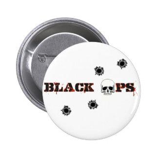 Tiros del cráneo de BlackOps Pin Redondo De 2 Pulgadas