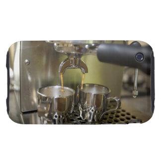 Tiros duales del café express que son elaborados iPhone 3 tough funda