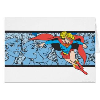 Tiros principales de Supergirl Tarjeta De Felicitación