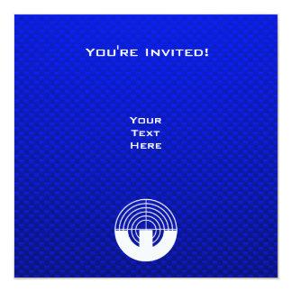 """Tiroteo azul del deporte invitación 5.25"""" x 5.25"""""""
