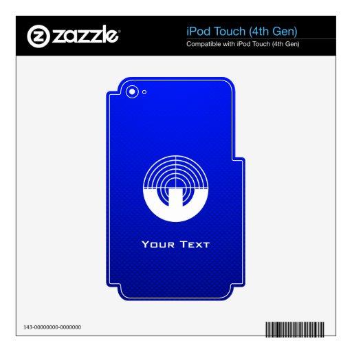 Tiroteo azul del deporte calcomanías para iPod touch 4G