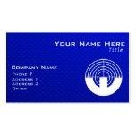 Tiroteo azul del deporte tarjeta de visita
