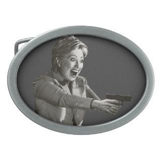 Tiroteo de Hillary Hebilla Cinturón Oval