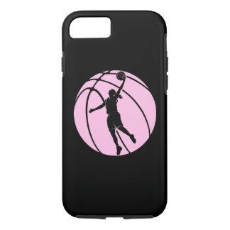 Tiroteo de la silueta del baloncesto del chica funda iPhone 7