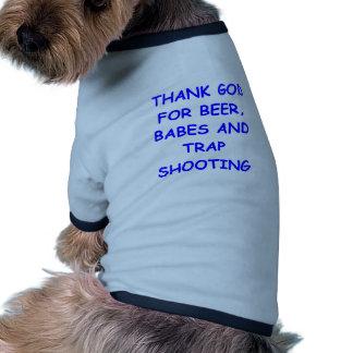 tiroteo de trampa camisas de mascota