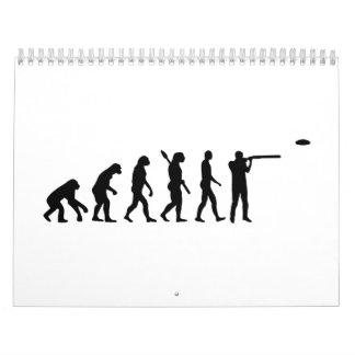 Tiroteo de trampa de la evolución calendarios de pared