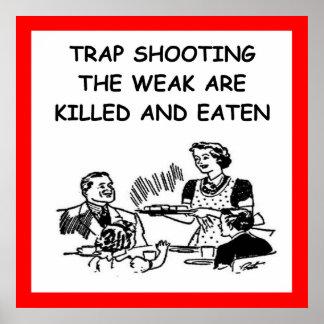 tiroteo de trampa posters