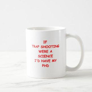 tiroteo de trampa tazas