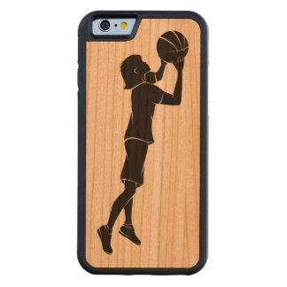 Tiroteo del jugador de básquet del chica funda de iPhone 6 bumper cerezo