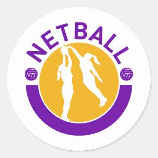 Tiroteo del jugador del Netball que bloquea el Etiqueta Redonda