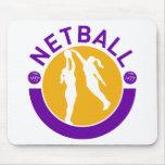 Tiroteo del jugador del Netball que bloquea el tir Alfombrilla De Raton