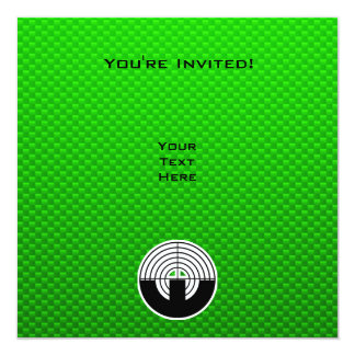 """Tiroteo verde del deporte invitación 5.25"""" x 5.25"""""""