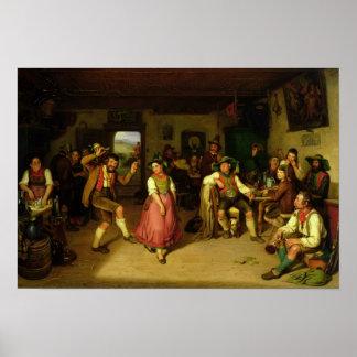Tiroteo y baile de la blanco en Oberbayern, 1841 Póster