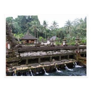 tirta empul temple bali postcard