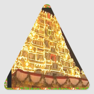 TIRUPATI TEMPLE SOUTH INDIA PILGRIMAGE HOLY TRIP TRIANGLE STICKER