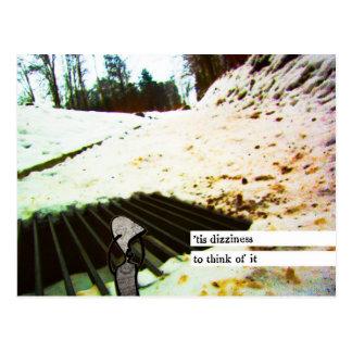 'tis dizziness to think of it postcard