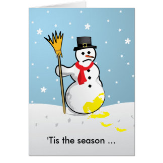 'Tis el muñeco de nieve triste de la estación… Tarjetón