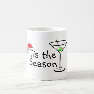 Tis el navidad de la bebida de Martini de la estac Tazas
