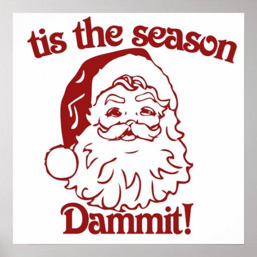 Tis el navidad divertido de la estación poster