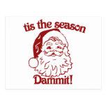 Tis el navidad divertido de la estación tarjeta postal