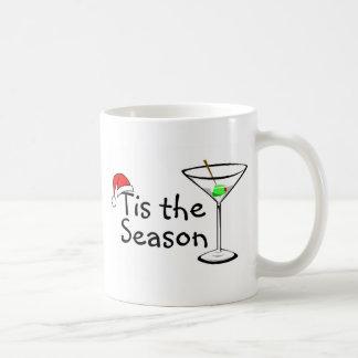 Tis el navidad Martini de la estación Taza