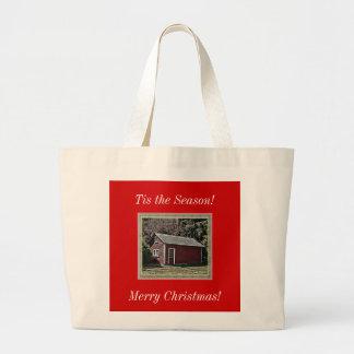 ¡Tis la estación! ¡, Felices Navidad! Tote enorme Bolsas