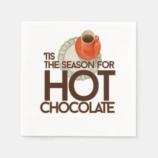 Tis la estación para el chocolate caliente servilleta de papel