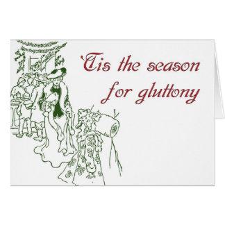 Tis la estación para el Glutton - tarjeta de Navi