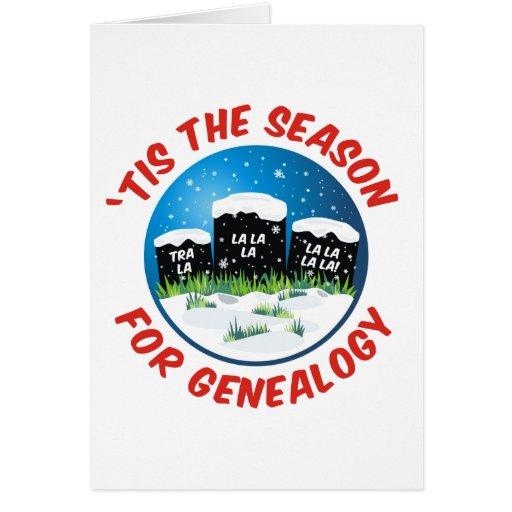 'Tis la estación para la genealogía Tarjeta De Felicitación