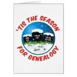 'Tis la estación para la genealogía Tarjetas
