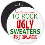 'tis la estación para oscilar los suéteres feos pin redondo de 6 pulgadas