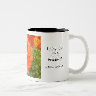 'Tis my faith that every flower..., Two-Tone Coffee Mug