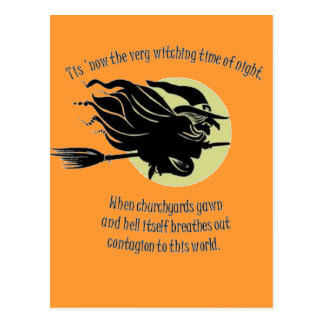 'Tis Now The Witching Time Of Night Postcard