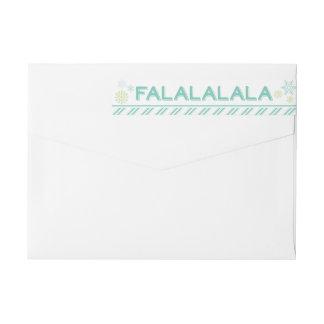 Tis que el navidad de Falalalala de la estación Etiquetas Postales