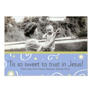 'Tis so Sweet to Trust in Jesus Card Custom Invites