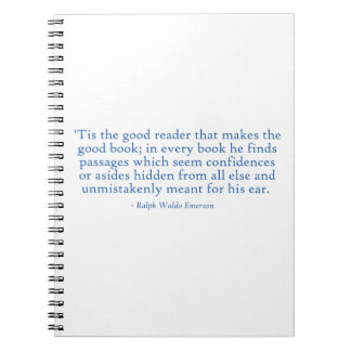 'Tis The Good Reader That Makes The Good Book Spiral Notebooks