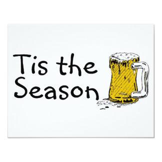 Tis The Season Beer 4.25x5.5 Paper Invitation Card