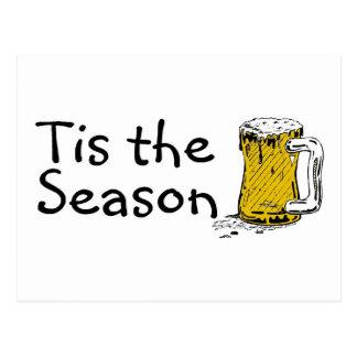 Tis The Season Beer Postcard