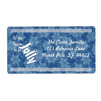 Tis' the Season (blue) Labels